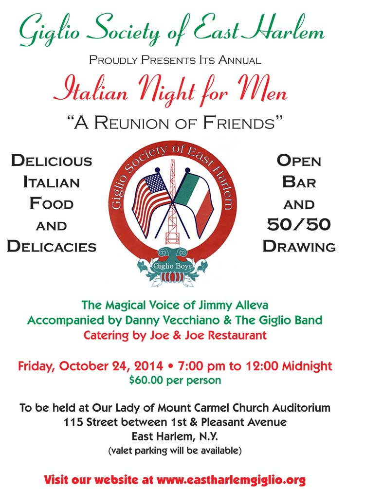 Reminder Men's Night Friday 10/24/14