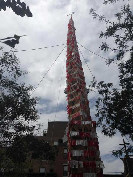 Parishioners Will Hoist Nearly 4 Ton Wooden Tower During Dance of the Giglio Festival