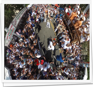 360 Degree Pictures of Giglio Sunday 2014