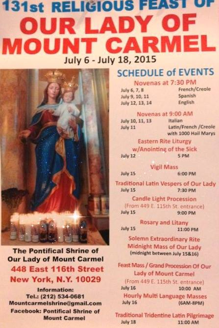 131st Our Lady of Mt Carmel Feast of East Harlem