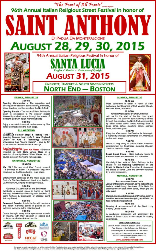 Boston St. Anthony Feast Information