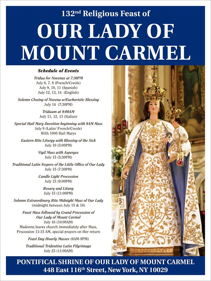 Our Lady of Mt Carmel Procession