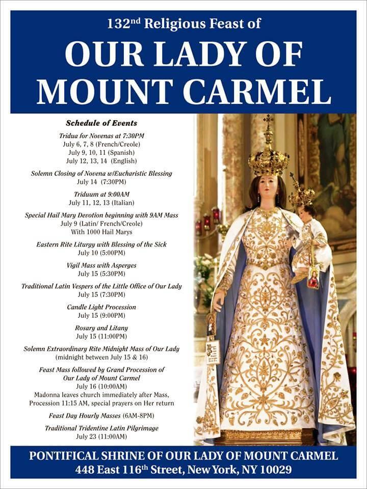 Our Lady of Mt Carmel Procession | Manhattan | New York City