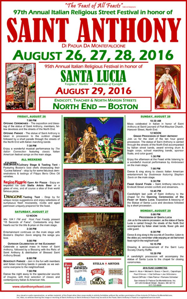 97th Annual Italian Religious Street Festival in Honor of St. Anthony
