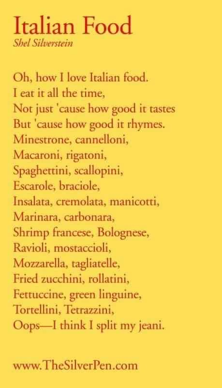 Italian Food Poem | Manhattan | New York City (NYC)