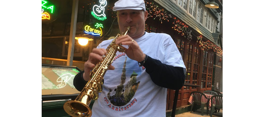 Saxophone Player Maurizio Saccone Visits