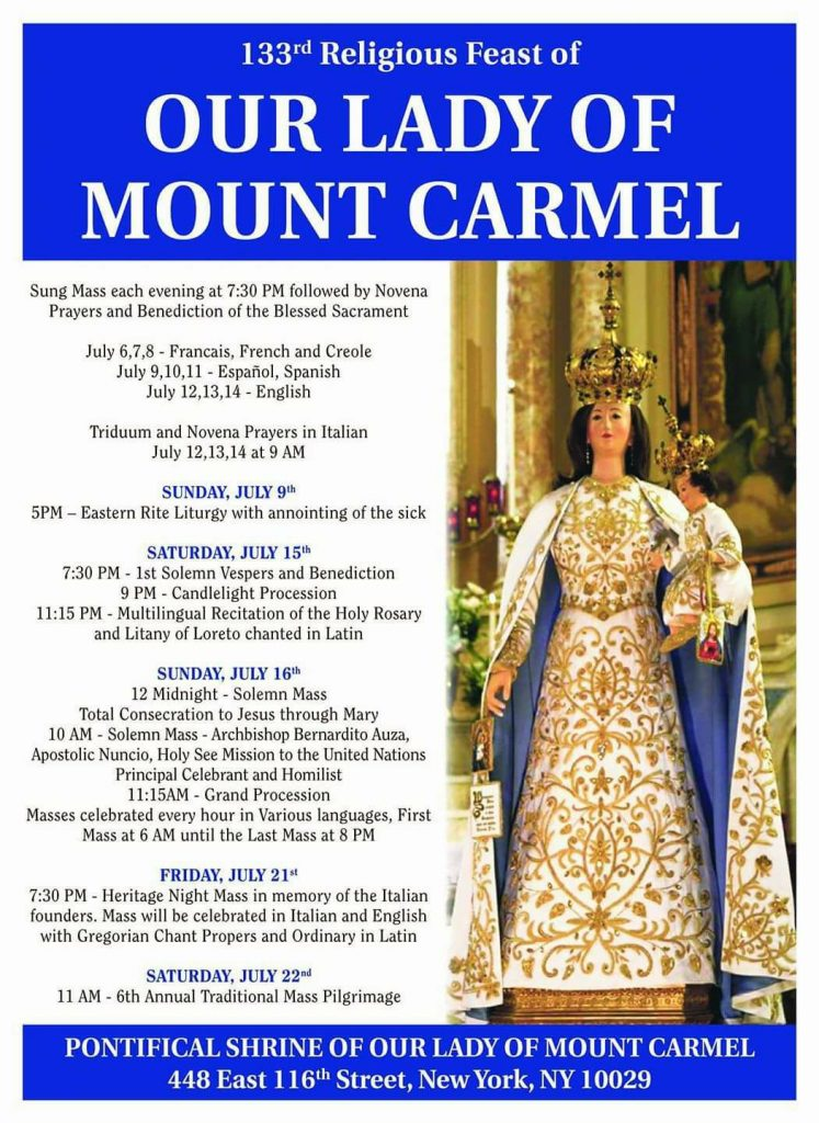 Our Lady of Mt  Carmel Procession | Manhattan | New York City (NYC)