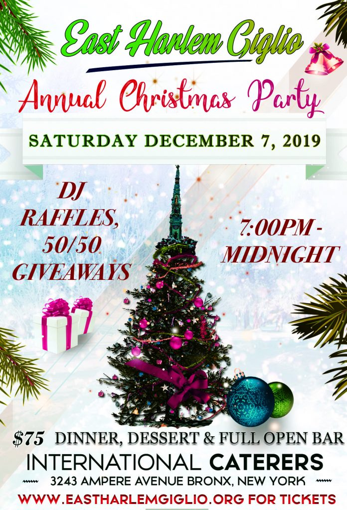 Saturday December 7th – Annual Giglio Christmas Party
