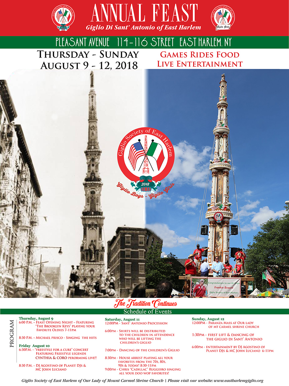 Giglio Society of East Harlem Feast 2018