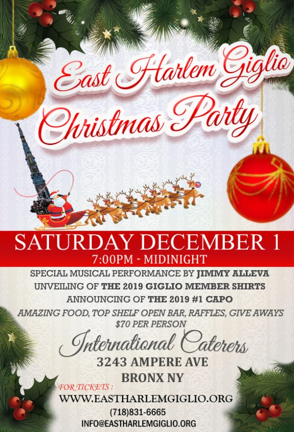 Annual Christmas Party ~Saturday December 1
