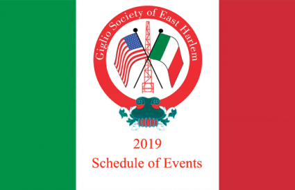 Giglio Society of East Harlem Schedule of Events 2019