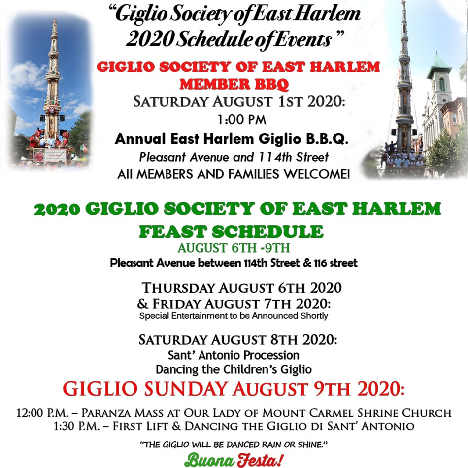 Giglio Society of East Harlem Feast 2019